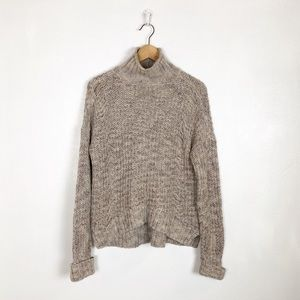 Express chunky knit turtleneck sweater